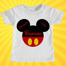 Custom Personalized Mickey Mouse Disney Trip Inspired T-Shirt - 2T to 5XL