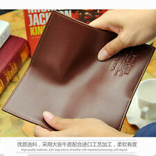 Fashion Men Leather Long Fashion Wallet Purse Credit Card Checkbook Trifold Bag