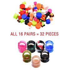 32pcs Silicone Ear Skin-Colorful Ear Tunnels Gauges+Saddle Ear Plugs Expanders