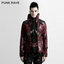 Punk Rave Steam Punk Red Unisex Military Jacket [Special Order] - Gothic,Goth,Re
