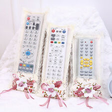 Bowknot Lace Remote Control Dustproof Case Cover Bags TV Control Protector WK