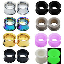 4pcs-Stainless Steel Screw Ear Stretching & Silicone Ear Tunnel Plugs-Gauge Kits