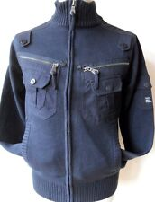 DUCK & COVER Mens Zip Through Cardigan Jacket Navy Style: Matric Size: Small