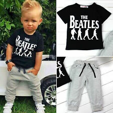 Novelty Toddler Kids Baby Boy T-shirt Tops+Long Pant Autumn Clothes Outfit Set