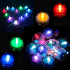 12/24/36Pcs LED Submersible Waterproof Wedding Christmas Decor Party Tea Light