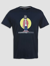 Weekend Offender Casual Man Navy Graphic T-Shirt