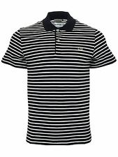 Mens Lacoste Striped Polo Shirt | DH4976 | HHW Navy/Blue-White
