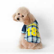 FashionPlaid T Shirt Lapel Coat Cat Jacket Cute Clothes Apparel Tops for Pet Dog