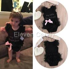 My Little Black Dress Toddler Baby Girl Romper Jumpsuit One-piece Outfit Clothes
