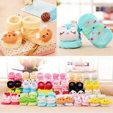 Cartoon Cute Baby Kid Infants Girl Boy Anti-slip Socks Slipper Socks Shoes Boots