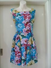 LADIES BNWT SIZE 10  AVAHNA FLORAL SKATER DRESS
