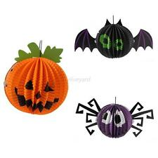 1pcs Funny Halloween Paper Hanging Spider Bat Pumpkin Hanger Party Home Decor