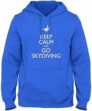 Men's Keep Calm And Go Skydiving Hoodie Skydiver Adrenaline Sky Dive Sweatshirt