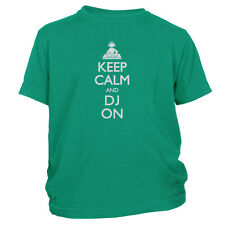 Kid's Keep Calm And DJ On T-Shirt   Music Gift Tee For Beat Mixer FREE S&H!