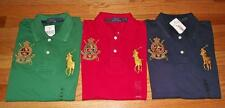 NEW NWT Womens Polo Ralph Lauren Fitted Polo Shirt BIG PONY LOGO W/ Crest *4G