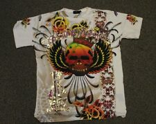 Christian Audigier WHITE Hail To The King T SHIRT skull
