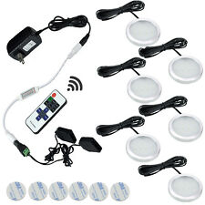 Dimmable LED Under Cabinet Lights Kit 6 Lamps with Wireless RF Remote Control