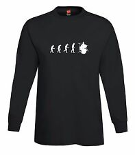 Evolution of Man To Drummer Long Sleeve T-Shirt Music Band Drums Tee FREE S&H!