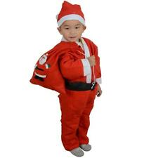 Toddler Kids Boys Children Christmas Santa Claus Costume Dress Outfit Hat Set NS