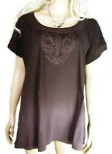 CLEARANCE PLUS Size 18 - 22 Ladies T-SHIRT Rich Brown Womens TOP Sizes Clothes