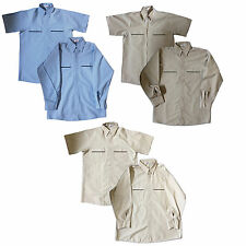NEW! Todd's Men Industrial Uniform Work Shirts MANY COLORS (Short & Long Sleeve)