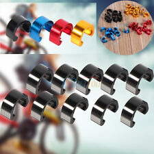 10PC MTB Bicycle Road Bike Brake Shift Cable Guides Housing Hose C-Clip Buckle
