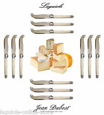 Laguiole Dubost - Cheese Knives Set (for 4-6-8-10-12 people) - Ivory / White