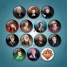 Doctor Who 'The Doctors' 38mm Fridge Magnet badge set Cult TV Capaldi Tennant