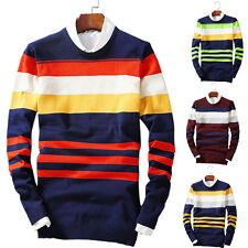 New Men's Winter Warm Pullover Jumper Sweater Tops Knitted Cardigan O-Neck Slim
