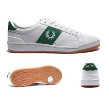 Mens Fred Perry Sturgess White/Green Trainers RRP £64.99
