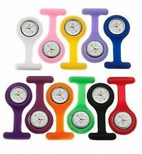 Nurse Watch Brand New Colorful Silicone / Rubber Nurses Pocket Fob Watches