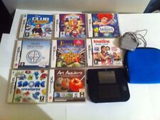 Nintendo 2ds Bundle With 8 Games Original Charger  R4 Card And Carry Case.