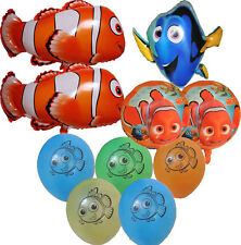 10PCES FINDING NEMO & DORY CLOWN FISH BALLOON SET OCEAN SEA BIRTHDAY PARTY DECOR