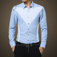 Mens Luxury Stylish Casual Dress Slim Fit T-Shirts Casual Long Sleeve Autumn