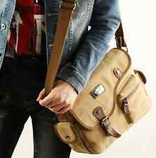 Men's Canvas Vintage Crossbody Satchel Shoulder Casual Messenger School Book Bag