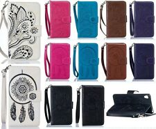 Luxury Pretty Embossed Wallet Book Style Flip PU Leather Case Cover For Samsung