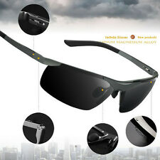 HD Men Aluminum Polarized Driving Sunglasses Sports Mirrored Sun Glasses Eyewear