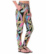 NWT TRINA TURK Cover Up Pant Jogger Pull On Beach Swimsuit Garden Paisley