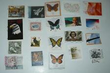 20 DIFFERENT HIGHER VALUE  STAMPS USED OFF AND ON PAPER