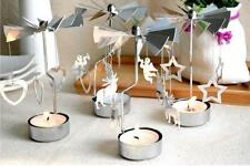 Rotary Rotating Iron Tealight Candle Holders Wedding Party Christmas Decoration