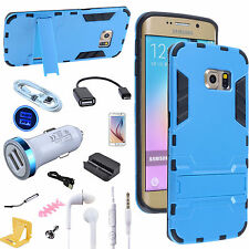 11 Bundle Dual Port Car Charger OTG USB Cable Case for Samsung Galaxy S6 edge