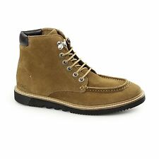 Kickers KWAMIE BOOT Mens Suede Leather Comfy Casual Classic Moccasin Boots Tan