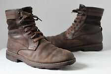 Clarks brown leather lace up ankle work walking boots UK 9G mens vintage