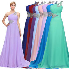 One Shoulder Sexy Dress Long Wedding Evening Prom Gown Cocktail Party Bridesmaid