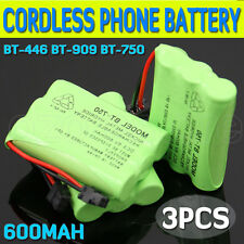 3x 600mAh 3.6V Cordless Phone Battery for Uniden BT-446 BT-909 BT-750 Ni-MH AU