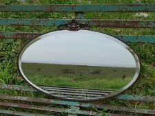 Vintage Bevelled edge Oval mirror with Copper Frame