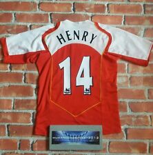 WOW! thierry HENRY 14 Arsenal MEDIUM RARE vintage home football Shirt, LEGEND