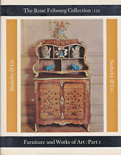 FURNITURE & WORKS OF ART RENE FRIBOURG COLLECTION III SOTHEBYS AUCTION CATALOGUE