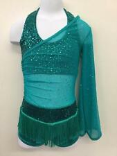 Dance Costume CHILD SIZES  Jazz Sequin Fringe 2pc Tap Solo Competition Pageant