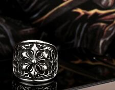 Ring Stainless Steel Men S Biker 316l Punk Silver Cross Gothic Size Jewelry Cool